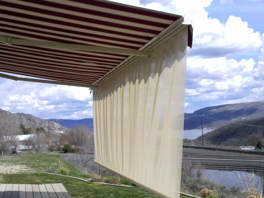 Drop Shade, Awning, retractable awning, Canvas awning, Spokane, Coeur d'Alene